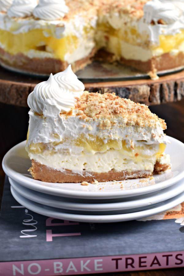 No Bake Banana Cream Cheesecake - by Shugary Sweets