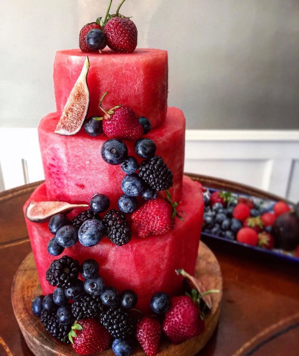 Watermelon Cake - by The Lemon Apron