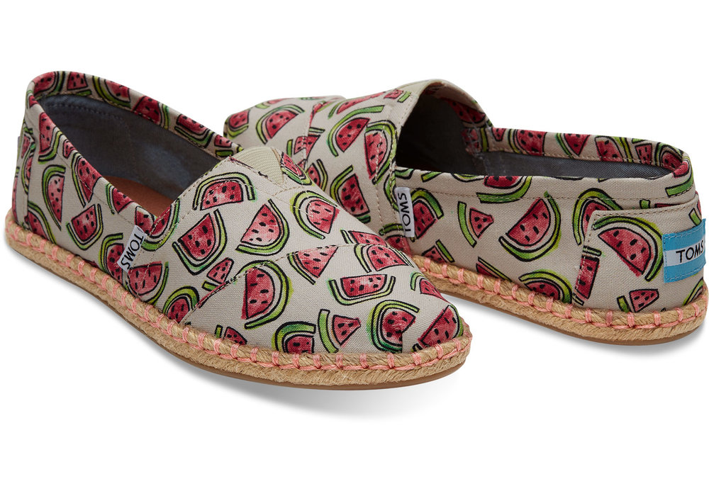 Watermelon Espadrilles - from Toms