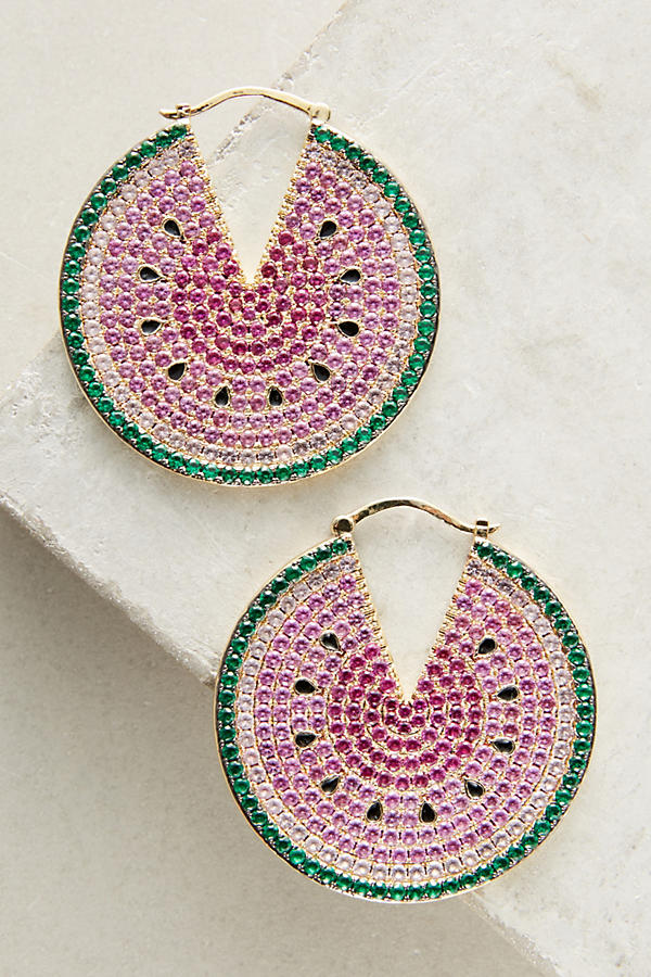Watermelon Hoop Earrings - from Anthropologie