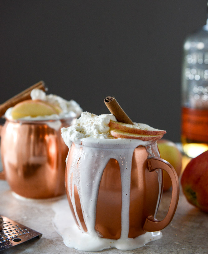 Hot Cider Nog - by How Sweet Eats