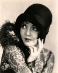 Flapper wearing cloche Hat