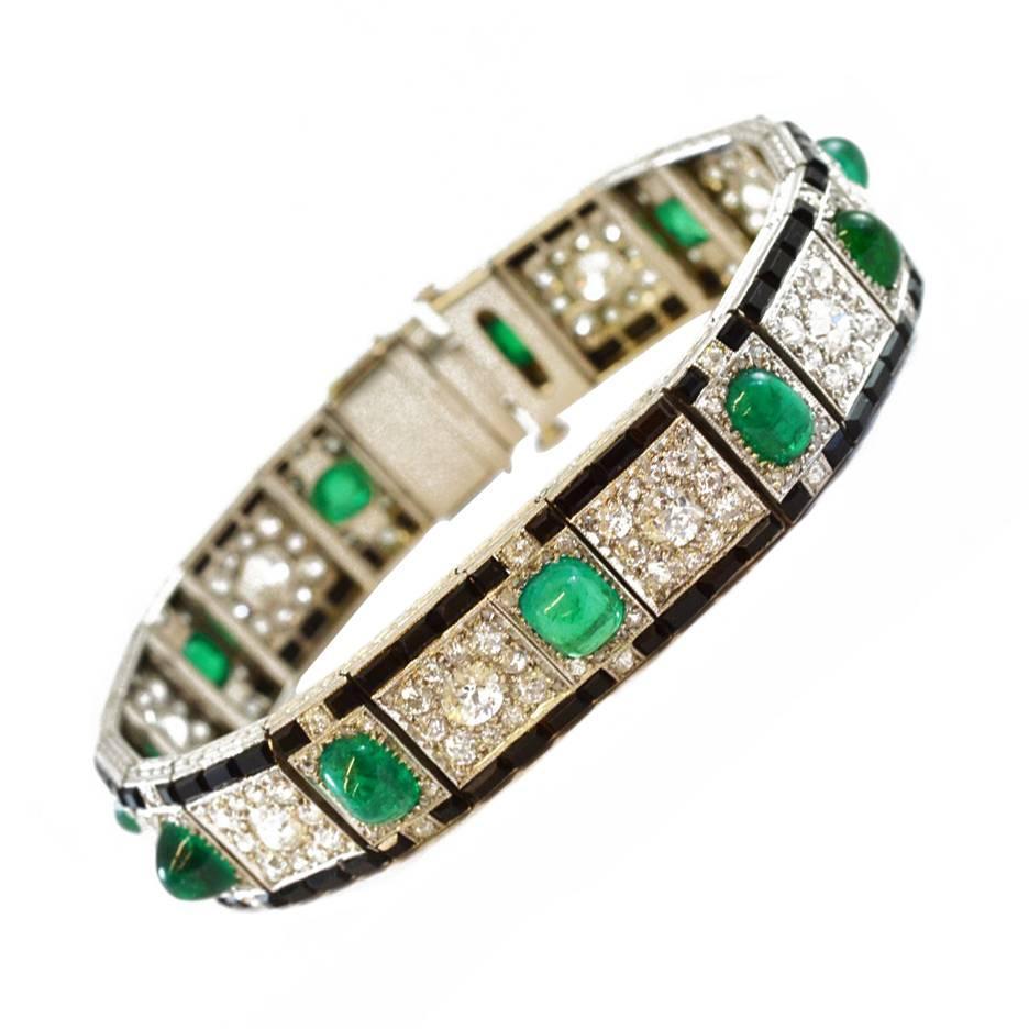 Marcus Cabochon Emerald Bracelet