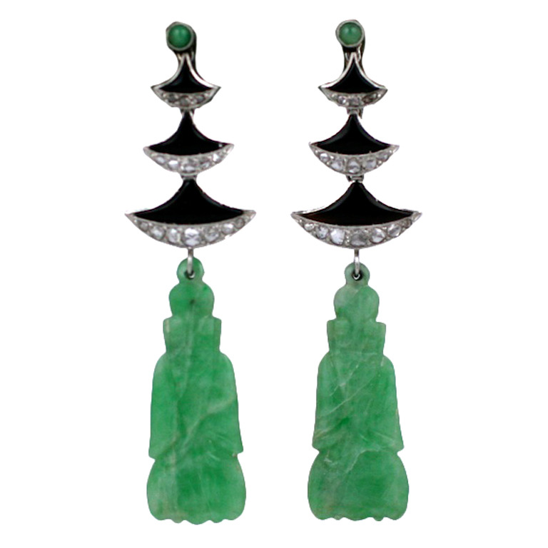 Jade Temple Earrings