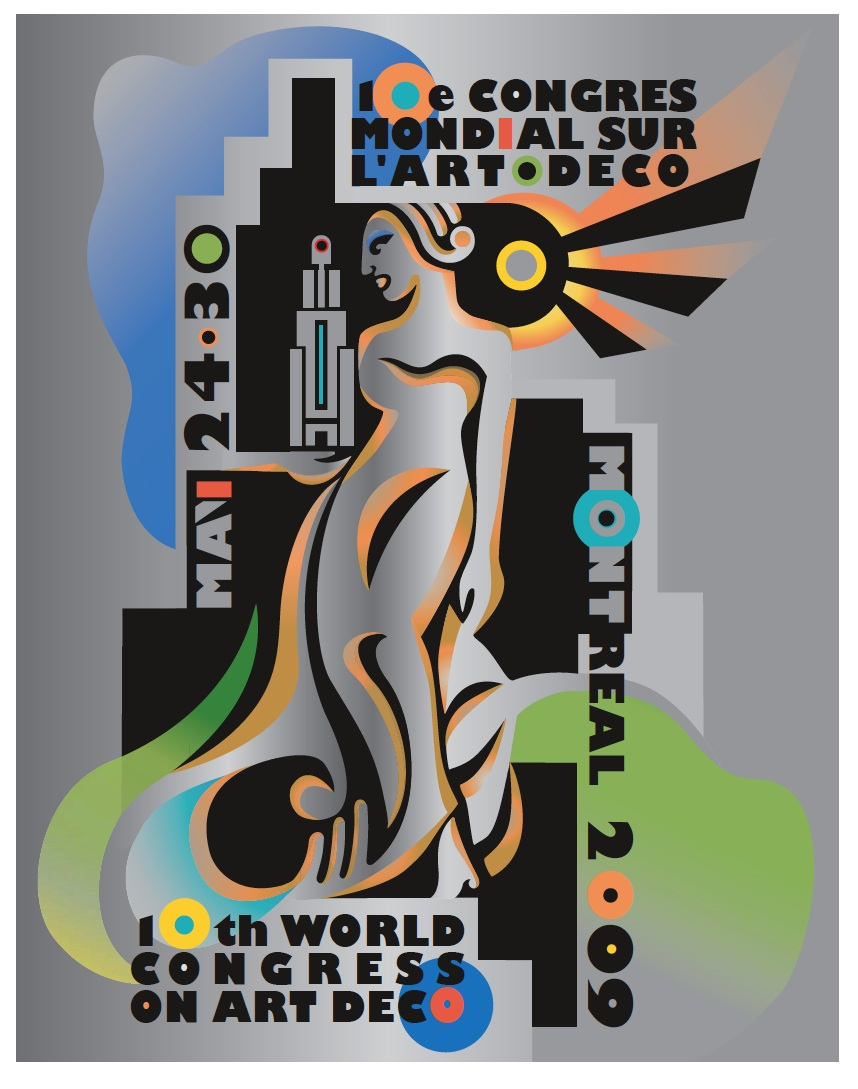 Poster for 10th World Congress on Art Deco held in Montreal, 2009