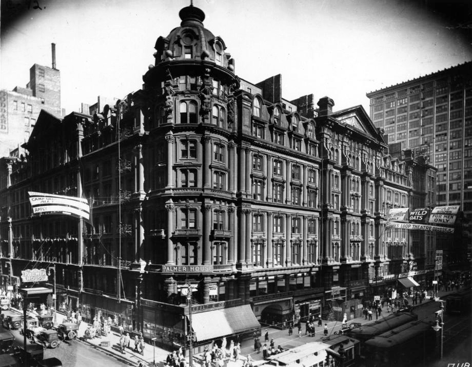 The original Palmer House Hotel, Chicago - Photo source: Chicagology.com