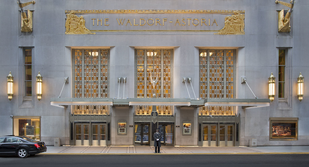 The Waldorf-Astoria Art Deco Entrance