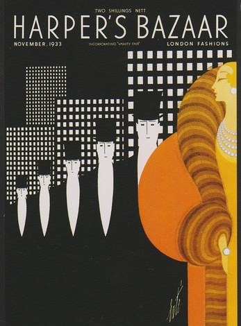Art Deco Harper's Bazaar Cover by Erte