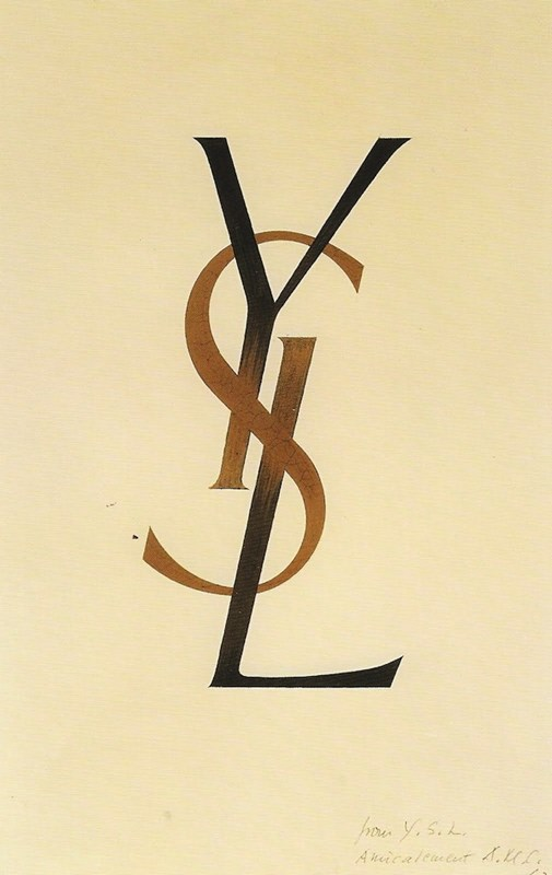 YSL Logo by AM Cassandre.  Image source: anothermag.com