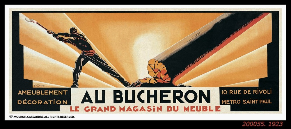 """Au Bucheron"" Poster by AM Cassandre, 1923.  Image source: Flashbak.com"