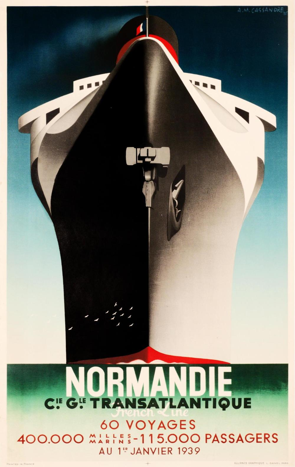 """Normandie"" Poster by AM Cassandre"
