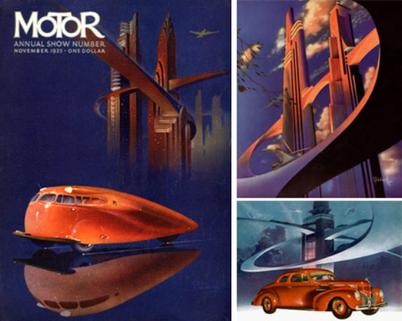 Arthur Radebaugh futuristic illustrations