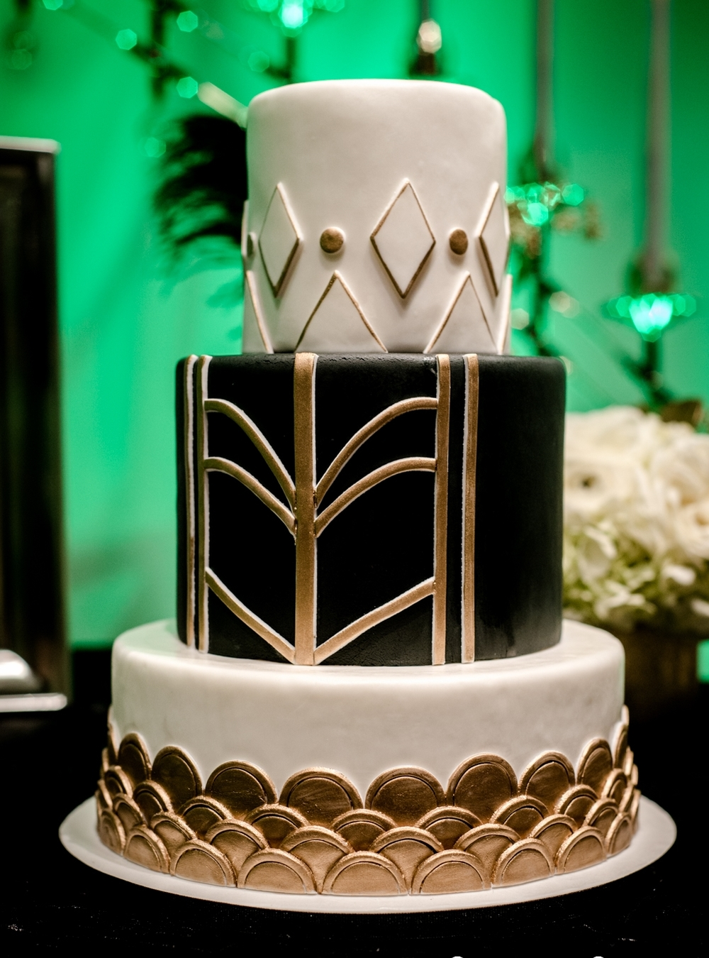 Art Deco Themed Wedding Cake
