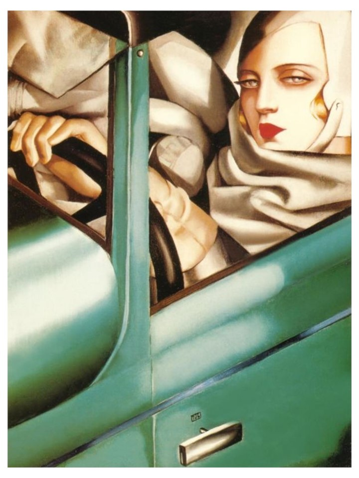 """Autoportrait - Tamara in the Green Bugatti"" by Tamara de Lempicka, 1925"