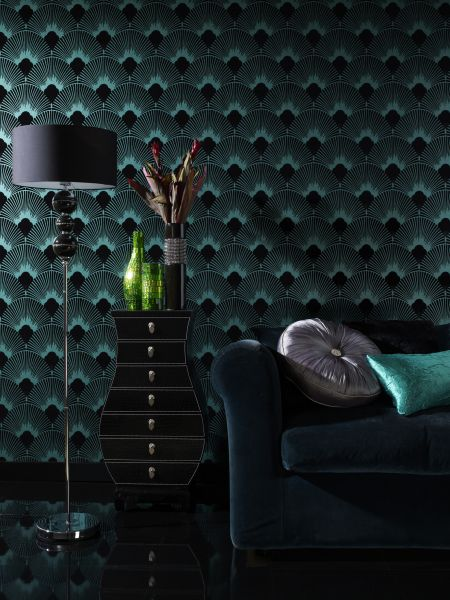 Emerald Art Deco Wallpaper - Image source: Select Wallpaper