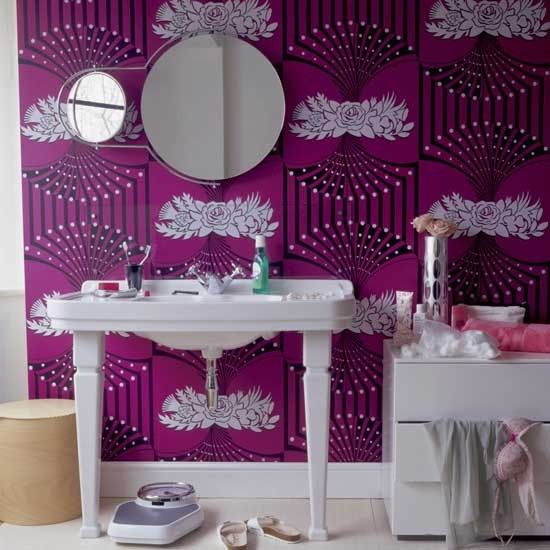 Bold, Bright Art Deco Wallpaper