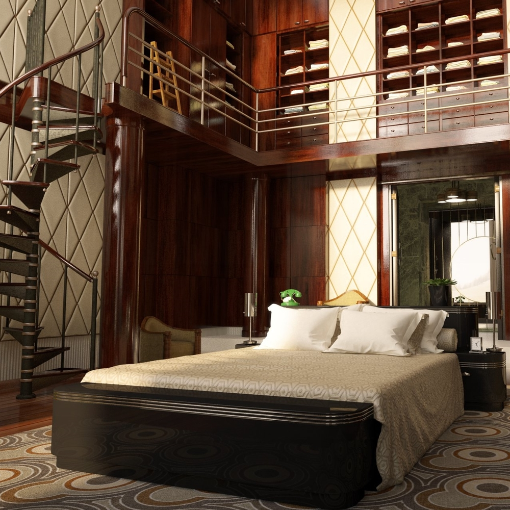 Art Deco inspired bedroom - from Baz Luhrmann's 'The Great Gatsby' - 2013