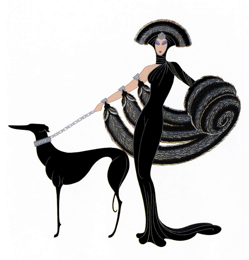 'Symphony in Black' by Erte