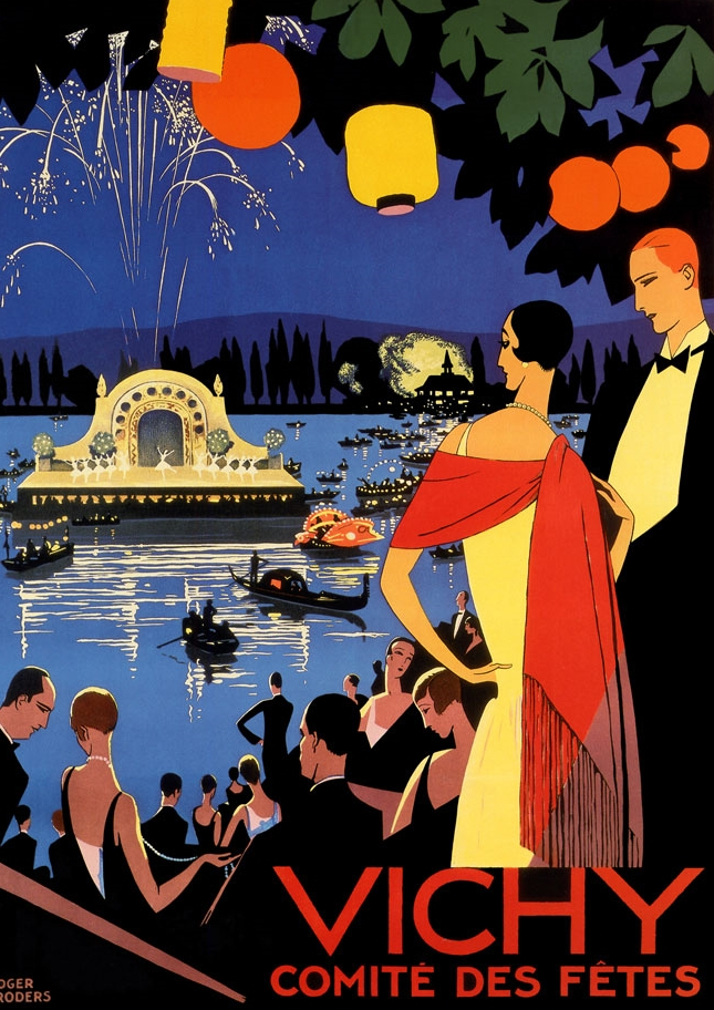 Art Deco Travel Poster - Vichy