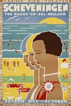 Art Deco Travel Poster - Holland