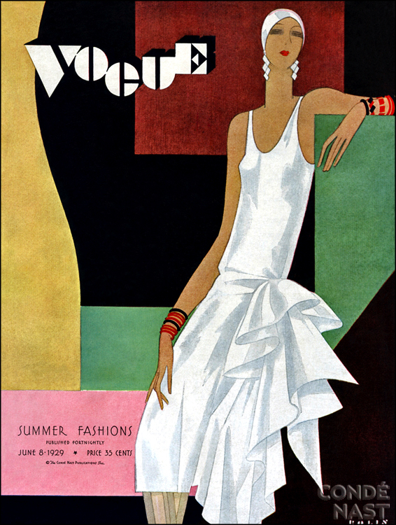 Vintage Vogue Cover June 1929