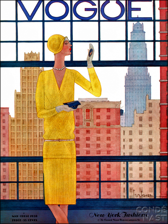 Vintage Vogue Cover May 1928