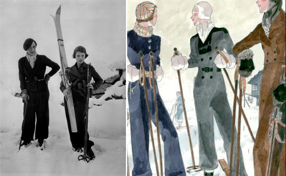"Art Deco Fashion ""Ski Chic"" - Image Source: Shrimpton Couture - History of Ski Wear"