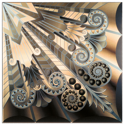 Art Deco Metallic Tile