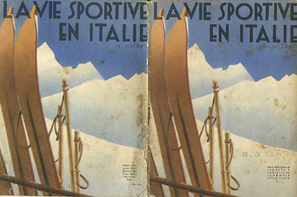 1930s Dolomites Art Deco Sports Travel Brochure - Image source:   idesirevintageposters.com