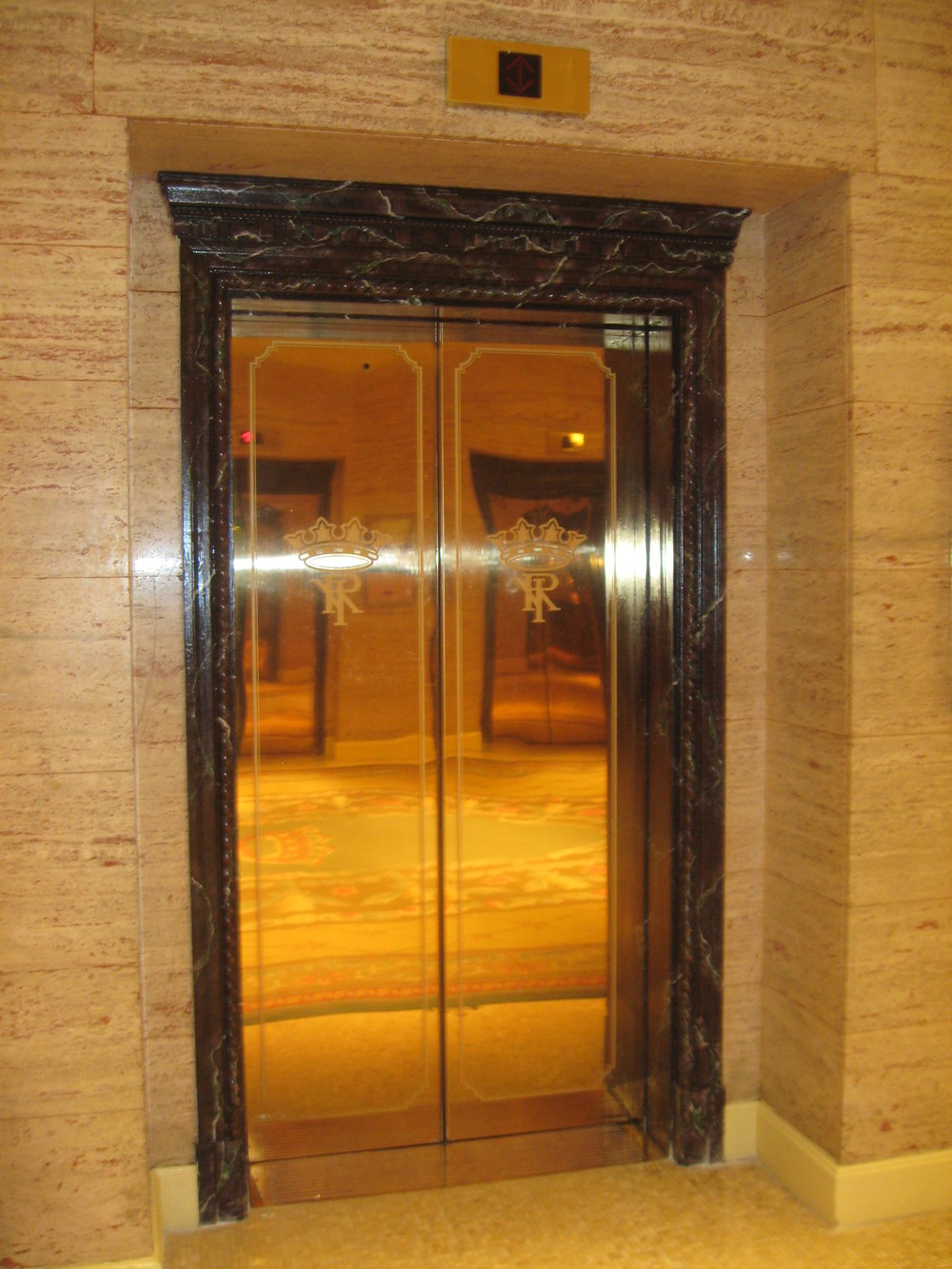 Art Deco Mirrored Elevator Doors