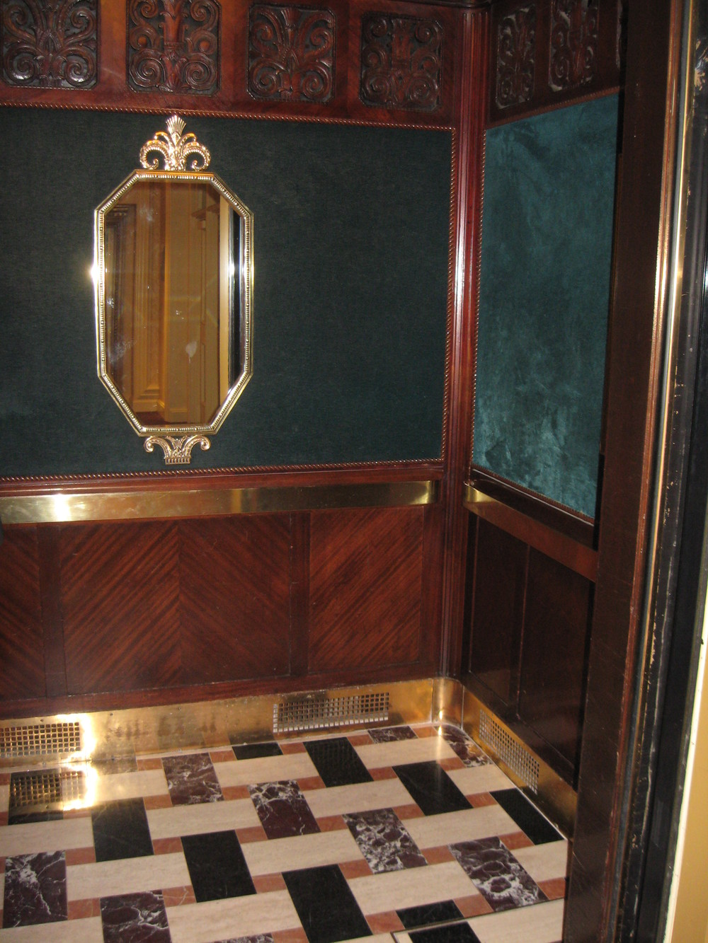 Art Deco Elevator Interior