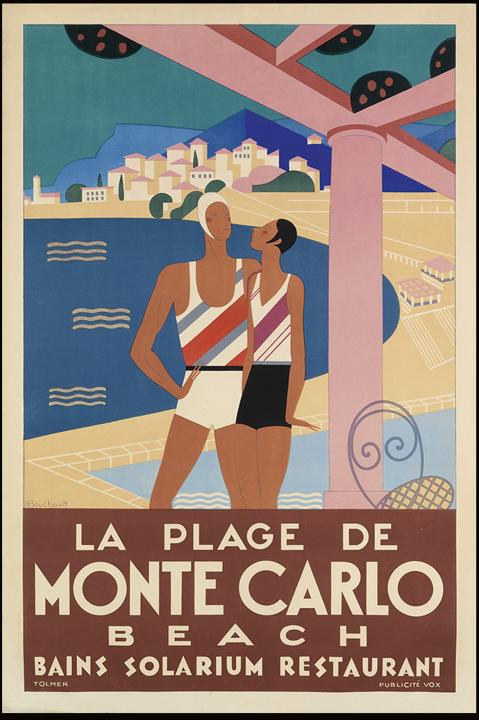 Art Deco Monte Carlo Travel Poster