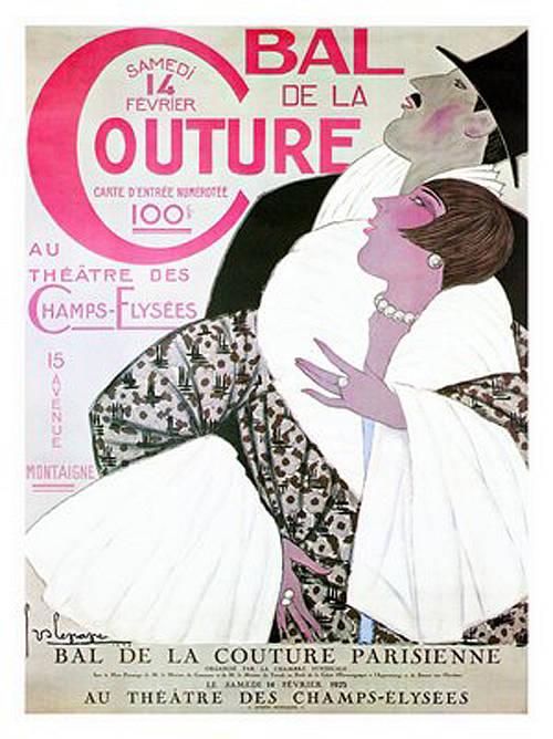 """""""Bal de la Couture"""" Art Deco Poster, 1925"""