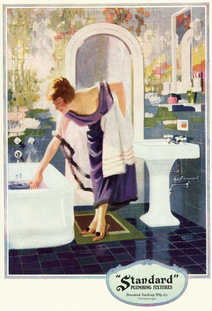 """1920's Art Deco """"Standard Plumbing Fixtures"""" Ad"""