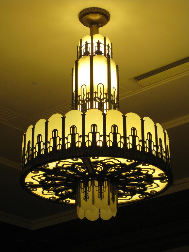 Art Deco Light Fixture - Myer Emporium Mural Hall, Melbourne, AU