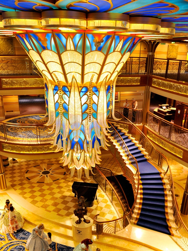 Art Deco Light Fixture - Disney Dream Cruise Ship