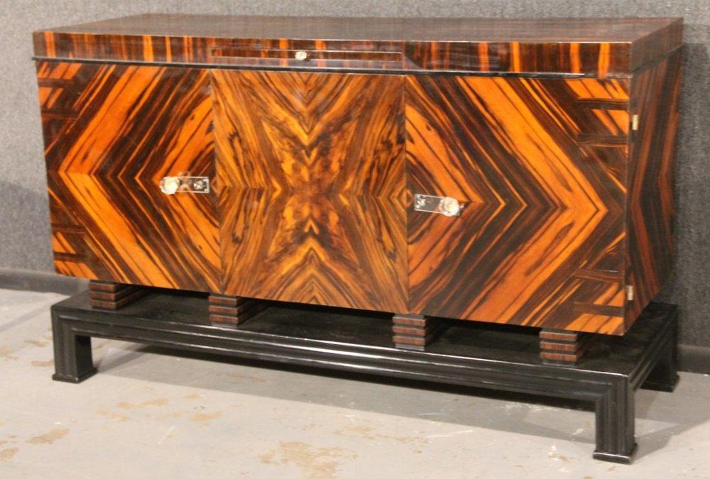 Art Deco Macassar Ebony Sideboard   Image Courtesy: Liveauctioneers.com