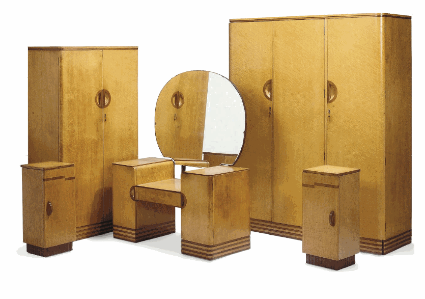 Art Deco Birds Eye Maple Bedroom Suite - Image courtesy:   Christies.com