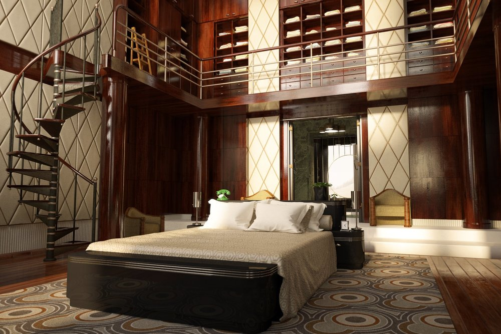 Art deco bedrooms art deco style for Great bedroom furniture
