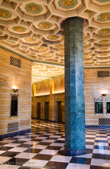 One Bunker Hill Art Deco Lobby