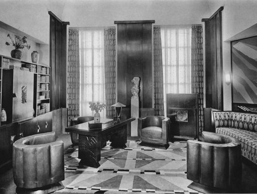 Art deco office art deco style for Deco interior design