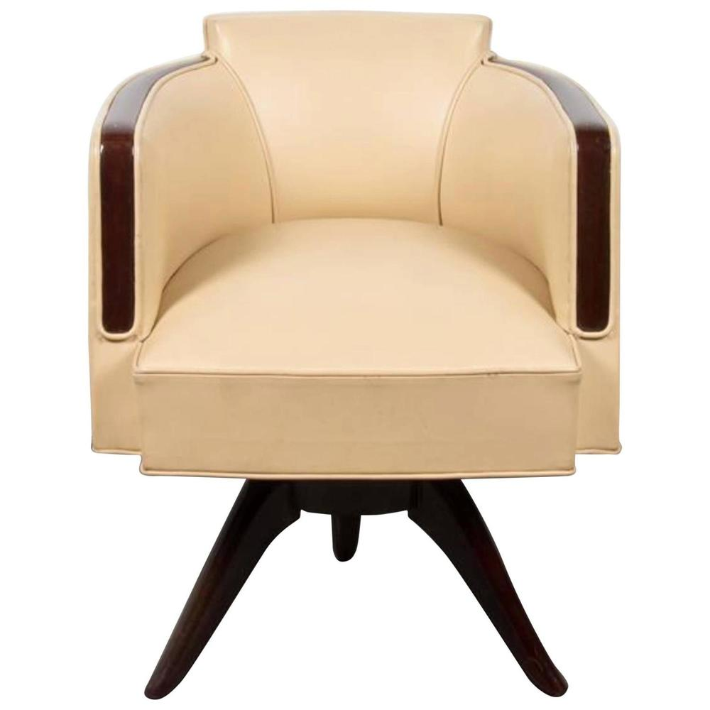furniture art deco style. Leather Art Deco Desk Chair Furniture Style