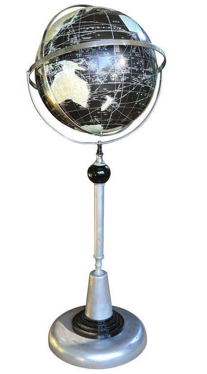 American Art Deco/Machine Age Floor Standing Globe