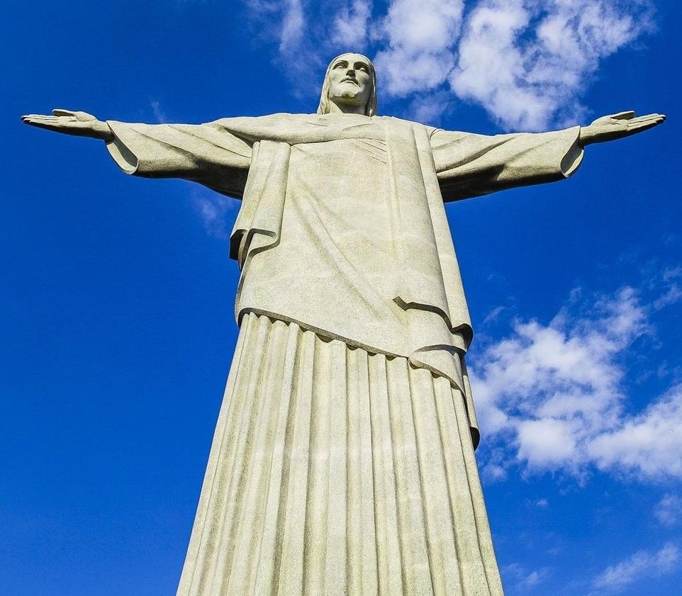 Art Deco Statue, Christ the Redeemer - Rio de Janeiro, Brazil