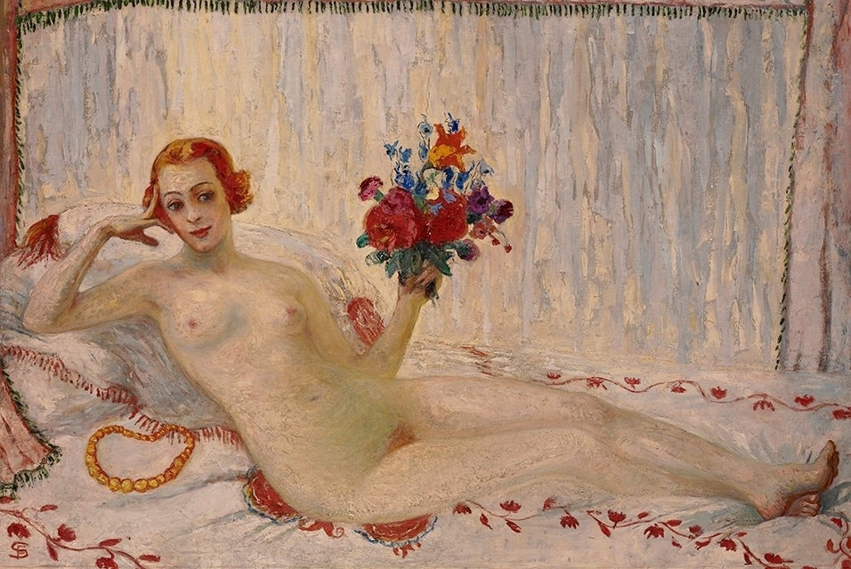 Florine Stettheimer - A Model (Nude Self-Portrait), 1915