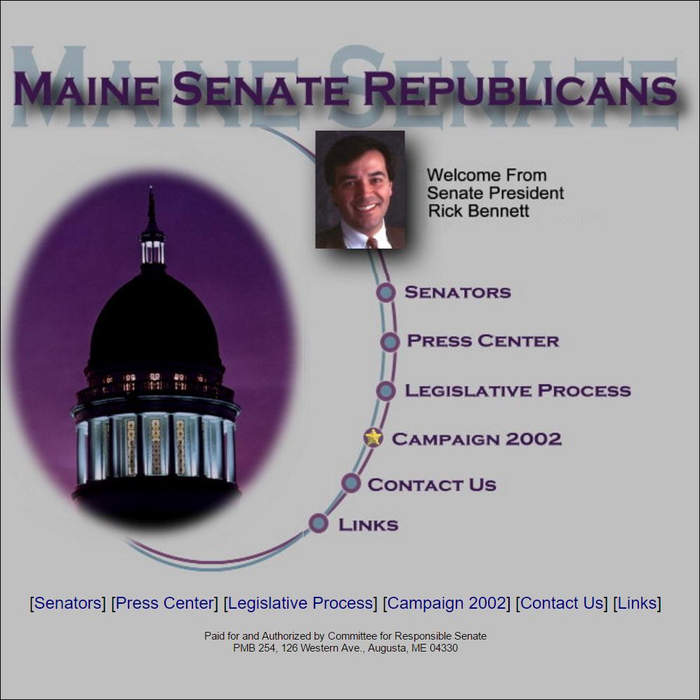 Maine Senate Campaign 2002