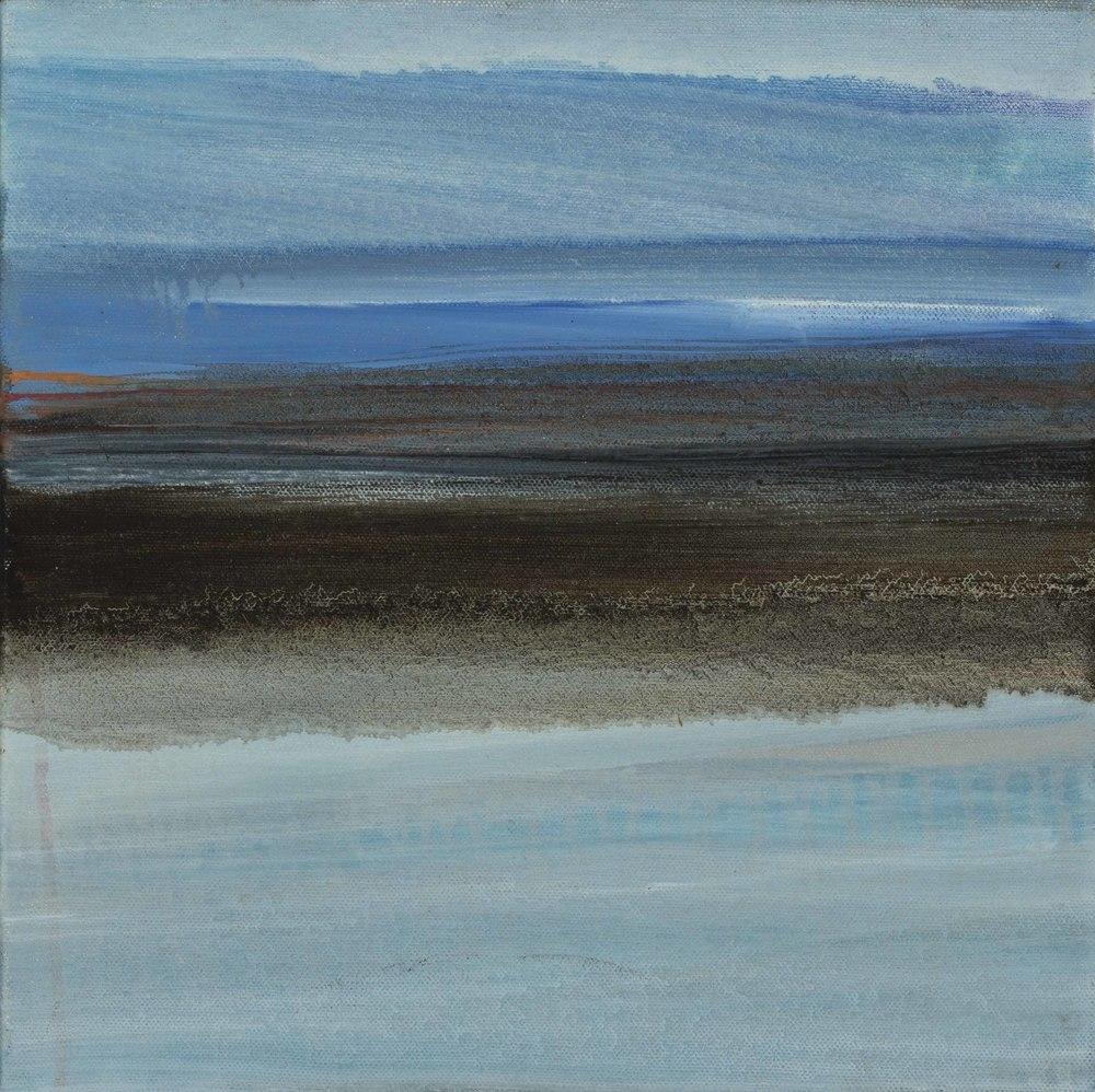"Landscape II, oil on canvas, 12"" x 12"""