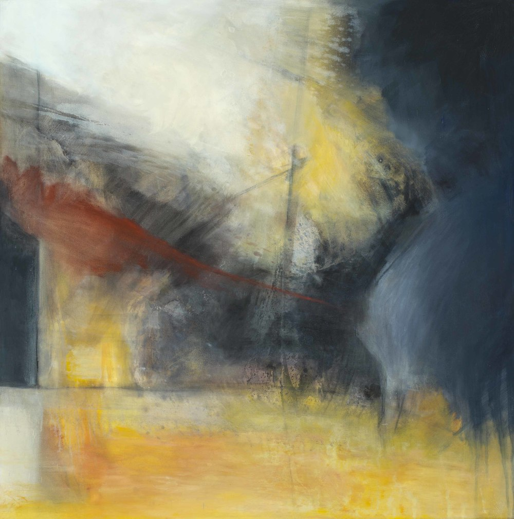 """Homage to Turner , oil on canvas, 36"""" x 36""""  6th ArtSlant Showcase 2016 Winner Abstract Category"""