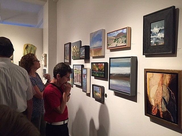 Opening reception, Small Works Summer 2016, NAWA Gallery, July 14, 2016