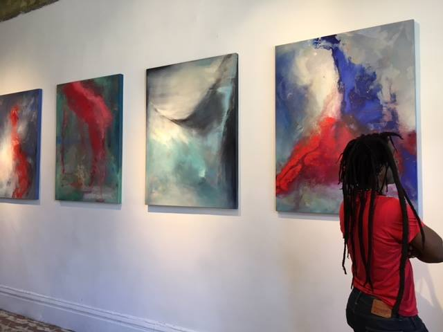 Installation of Solo Exhibition at Red Poppy Art House